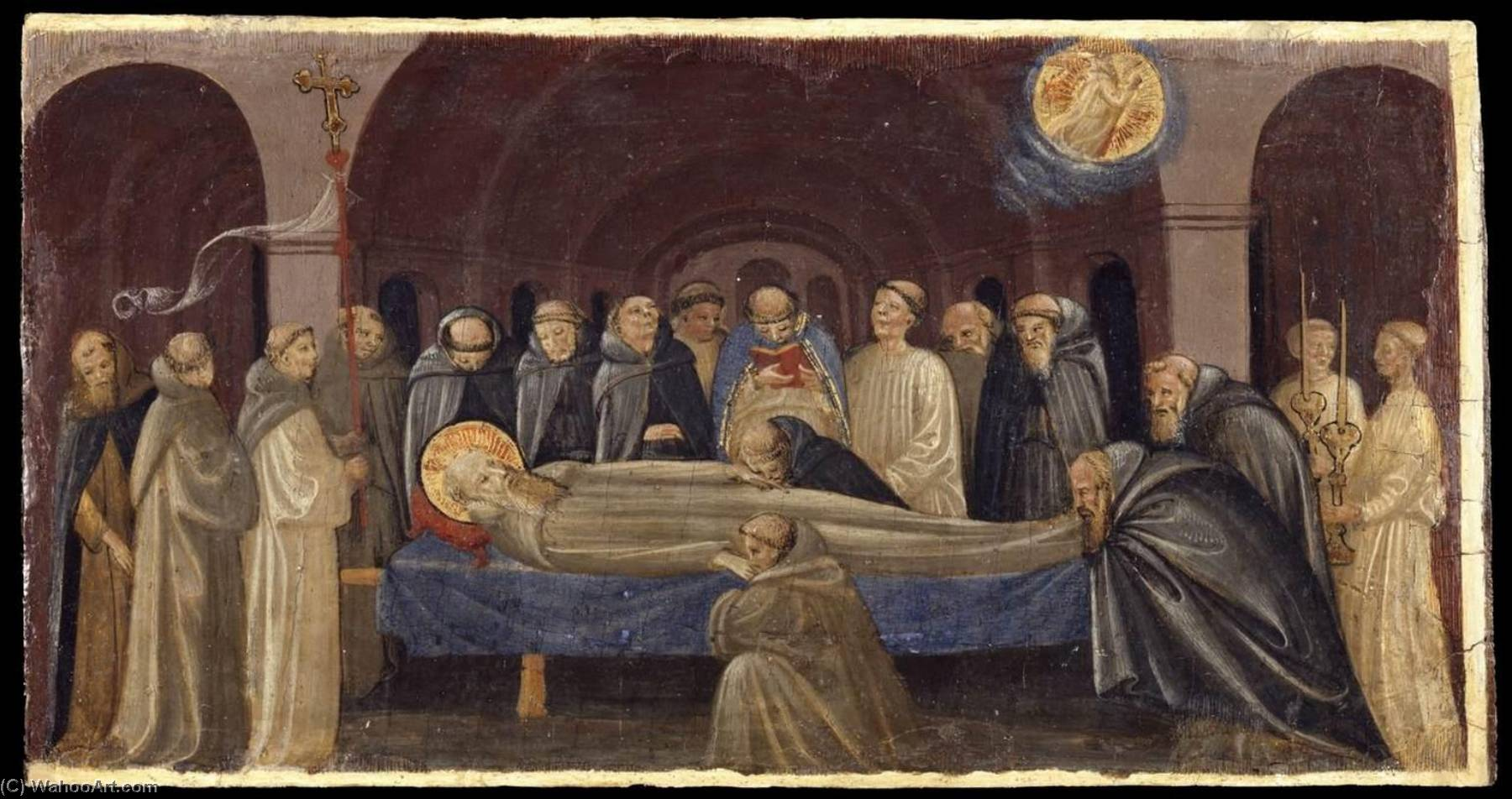 The Funeral of St Jerome, 1431 by Francesco D'antonio Di Bartolommeo | Painting Copy | WahooArt.com