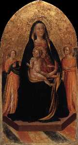 Francesco D'antonio Di Bartolommeo - Madonna and Child Enthroned with Angels
