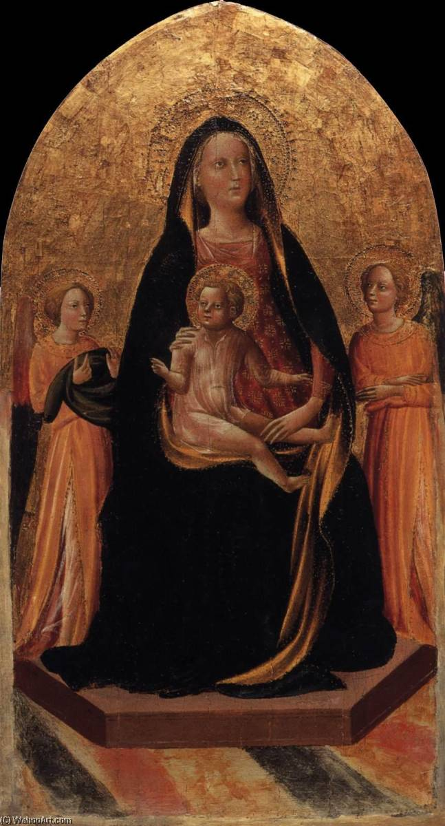 Madonna and Child Enthroned with Angels, Tempera by Francesco D'antonio Di Bartolommeo