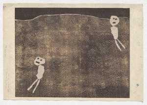 Jean Philippe Arthur Dubuffet - Maquette for Leisure Hours (Loisirs)