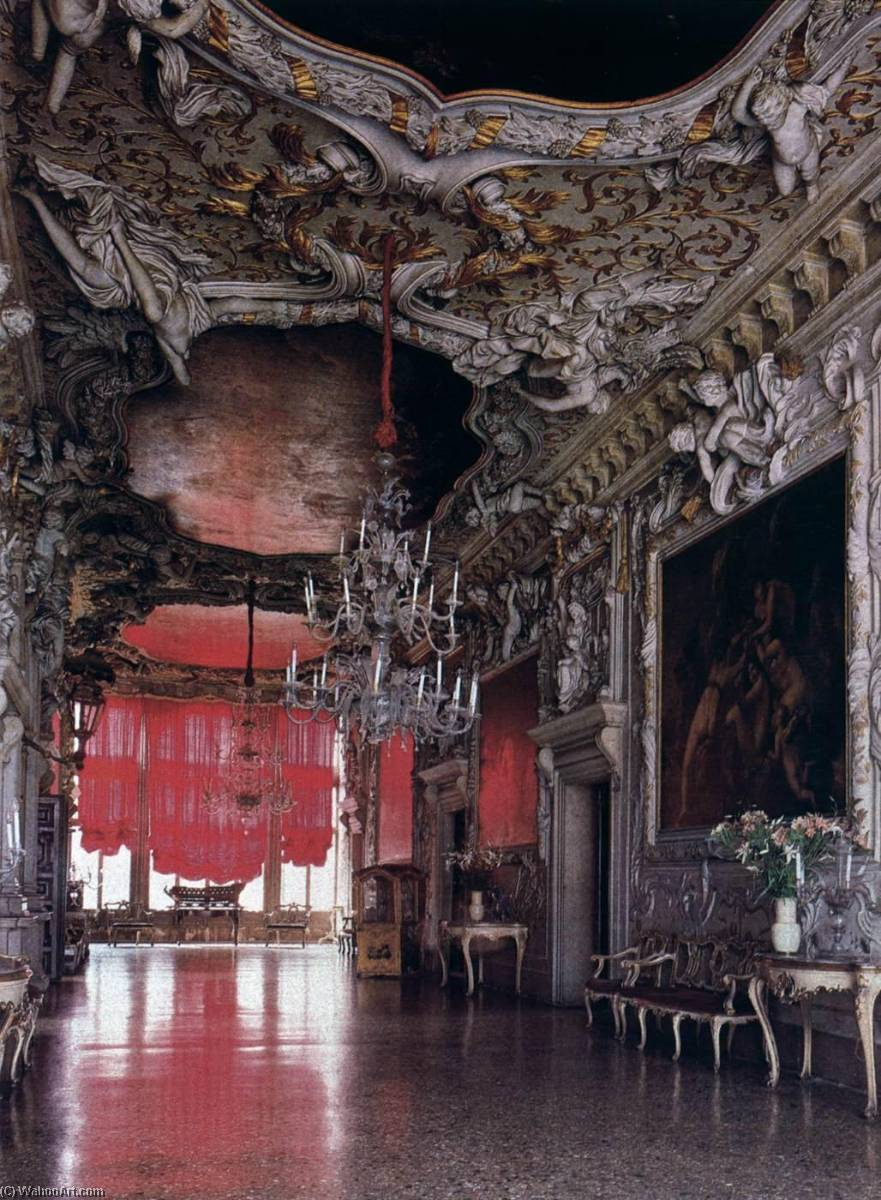 Entrance hall, 1710 by Abbondio Stazio | Famous Paintings Reproductions | WahooArt.com
