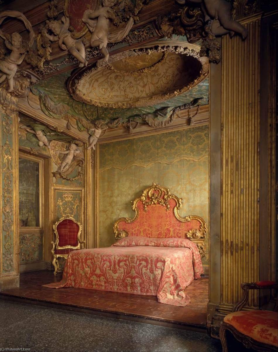 Bedroom from the Sagredo Palace, 1718 by Abbondio Stazio | Oil Painting | WahooArt.com