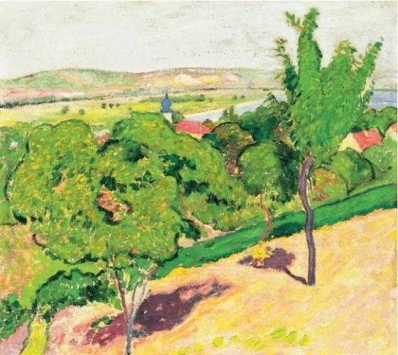 Hillside in Sunshine, Oil On Canvas by Arnold Gara