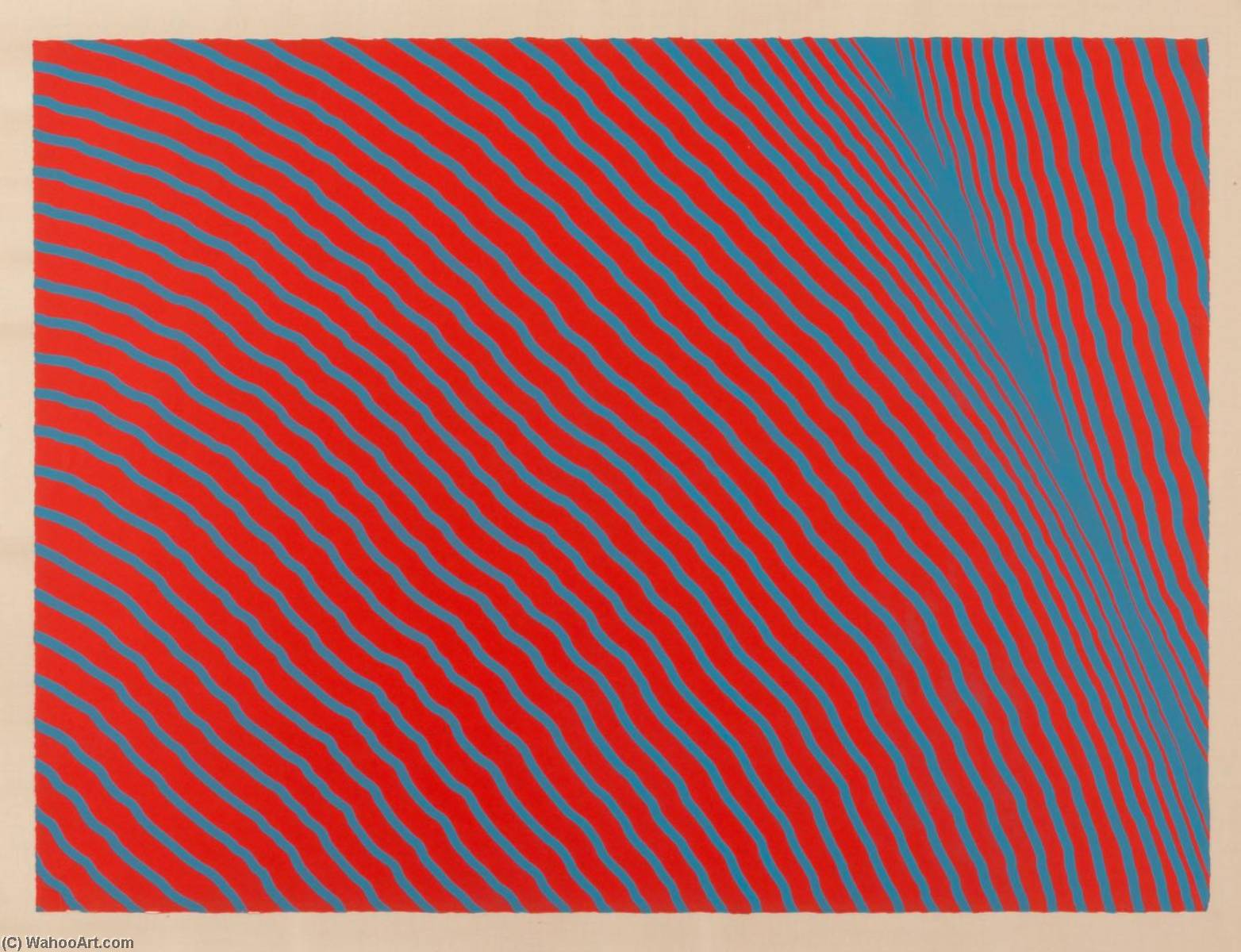 Blue on Red, Lithography by Henry Pearson