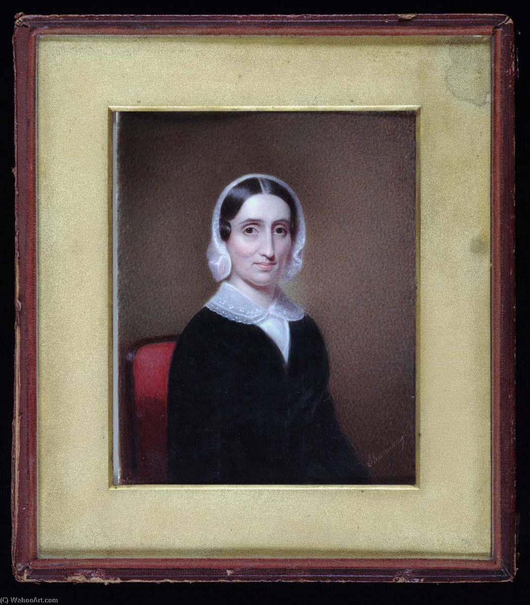 Mrs. James Morris, 1845 by Henry Colton Shumway (1807-1884) | Famous Paintings Reproductions | WahooArt.com