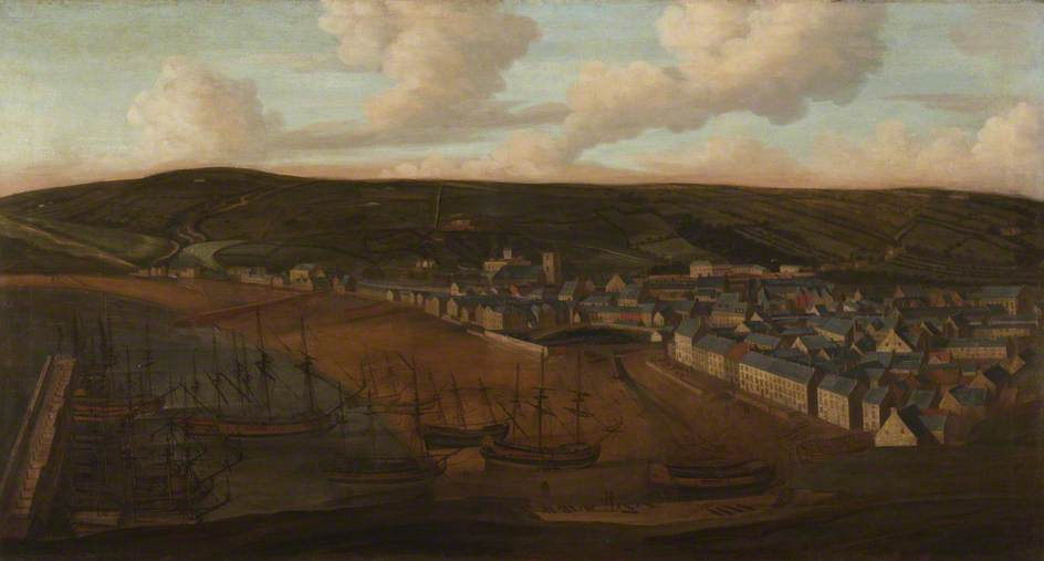 Whitehaven Harbour from Mount Pleasant, 1710 by Matthias Read | Oil Painting | WahooArt.com