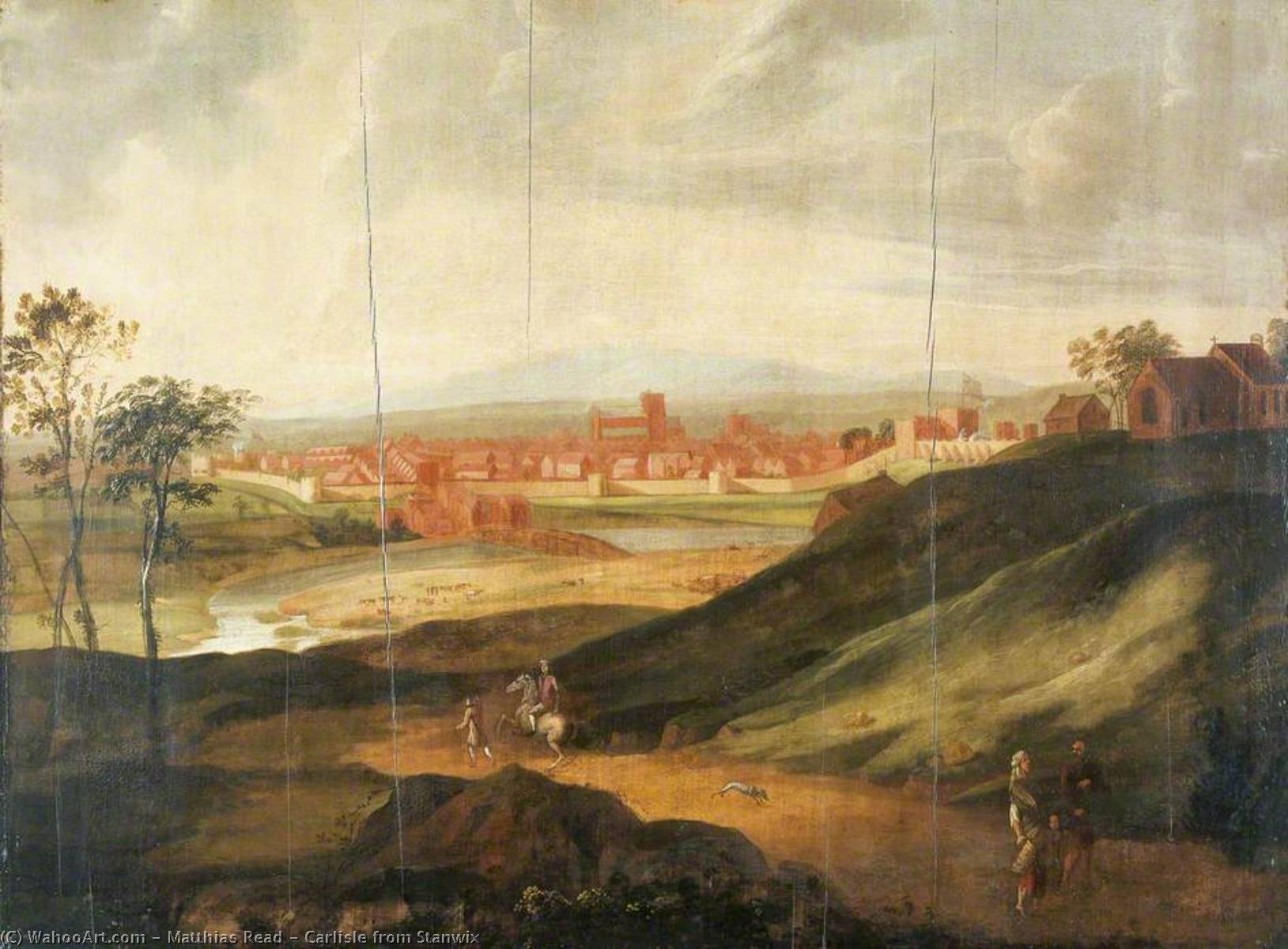 Order Museum Quality Reproductions : Carlisle from Stanwix, 1720 by Matthias Read | WahooArt.com