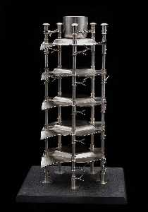 Boris Bally - Stacked Pentagon Candle Sculpture (1 of 4)