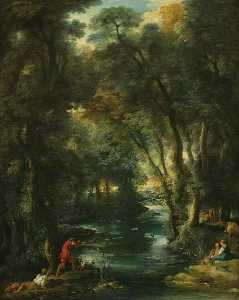 Jean François De Troy - Duck Shooting in a Wood