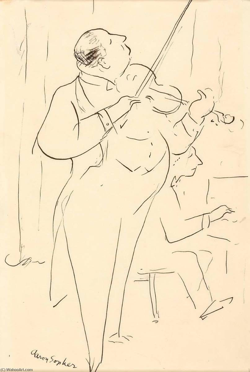 The Violinist, Pen by Aaron Sopher