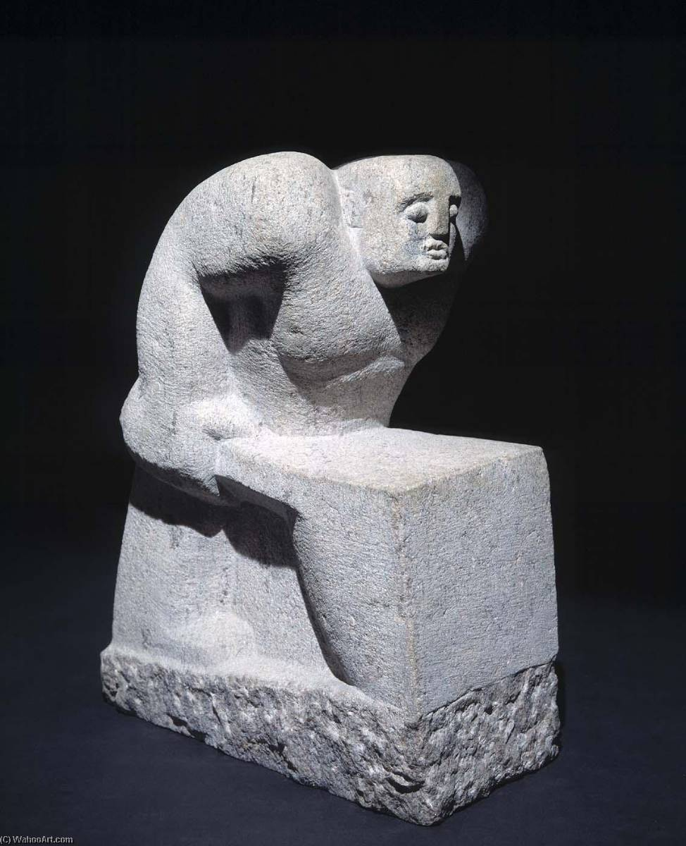 Man with Wheelbarrow, Stone by Aaron J Goodelman