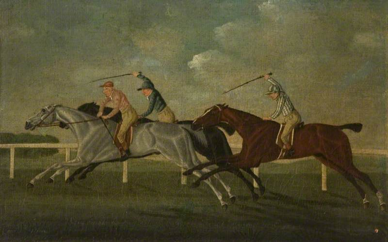 Order Art Reproductions | `Gimcrack` Beating Two Other Horses at Epsom by John Cordrey | WahooArt.com