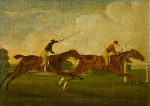 John Cordrey - -Darnock- Beating -Ledongheds- for the King-s Plate at Newmarket