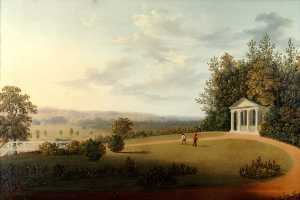 The Temple, 28 January 1830, Oil by Joseph Francis Gilbert (order Fine Art Print on canvas Joseph Francis Gilbert)
