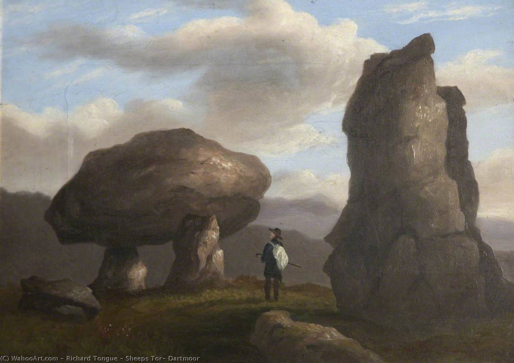 Sheeps Tor, Dartmoor, Oil On Canvas by Richard Tongue