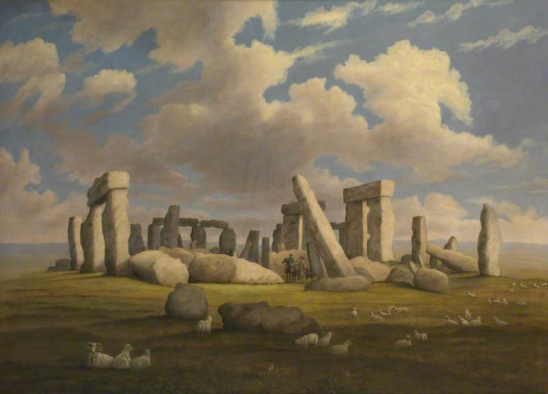 Stonehenge from the West South West, Oil On Canvas by Richard Tongue
