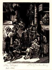 Order Museum Quality Copies | The Steps, 1934 by Fritz Eichenberg | WahooArt.com
