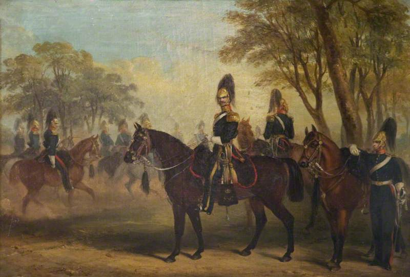 Glasgow Yeomanry at Exercise, Oil On Canvas by Henry Martens