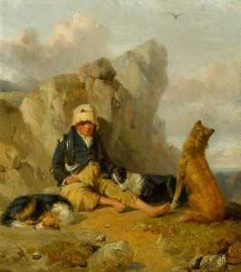 Thomas Woodward - The Shepherd Boy with His Dogs