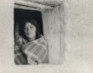 Buy Museum Art Reproductions | Young Woman in Pueblo Window, 1925 by Forman Hanna | WahooArt.com