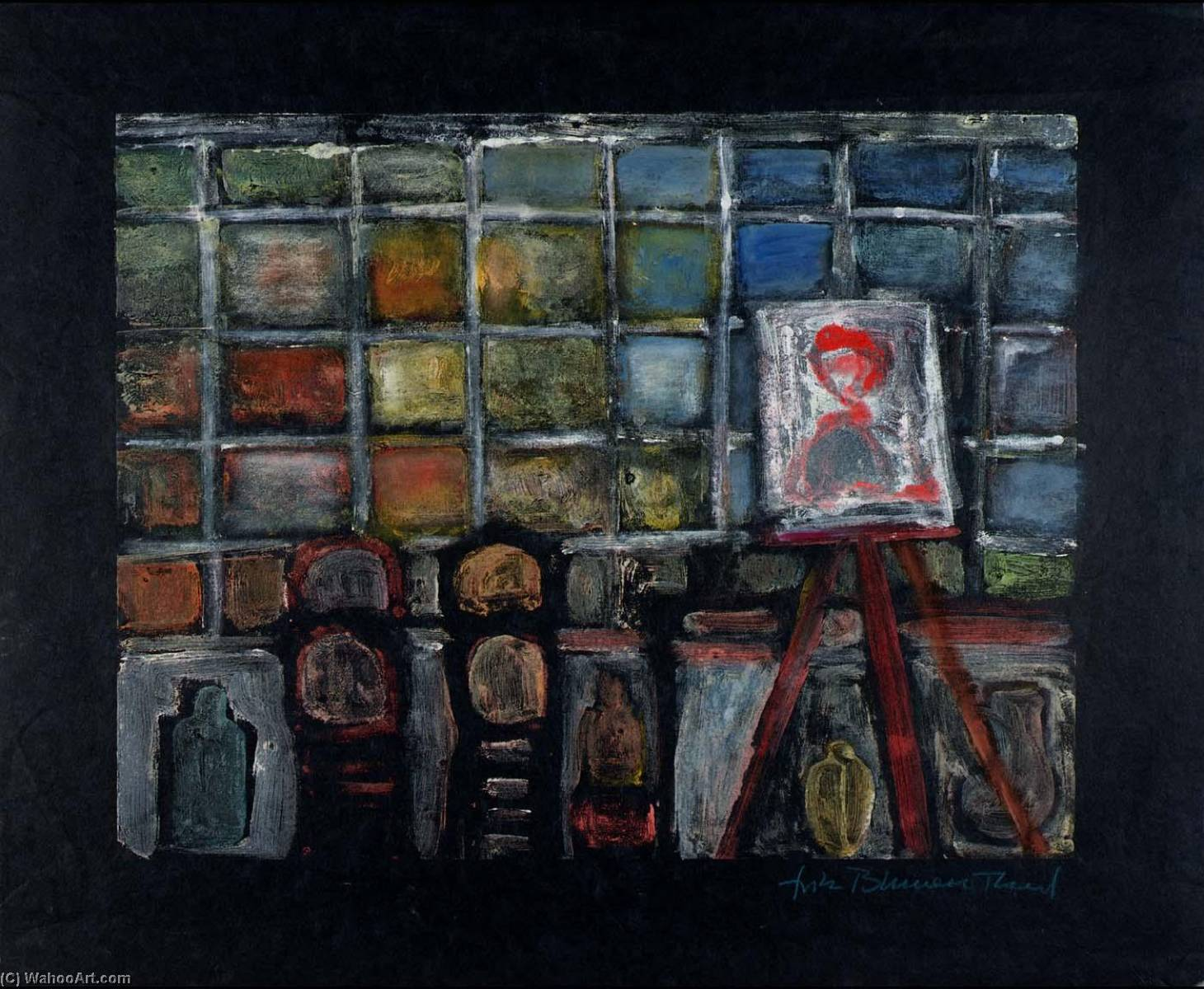 Studio No. 2, 1969 by Fritz Blumenthal | Oil Painting | WahooArt.com