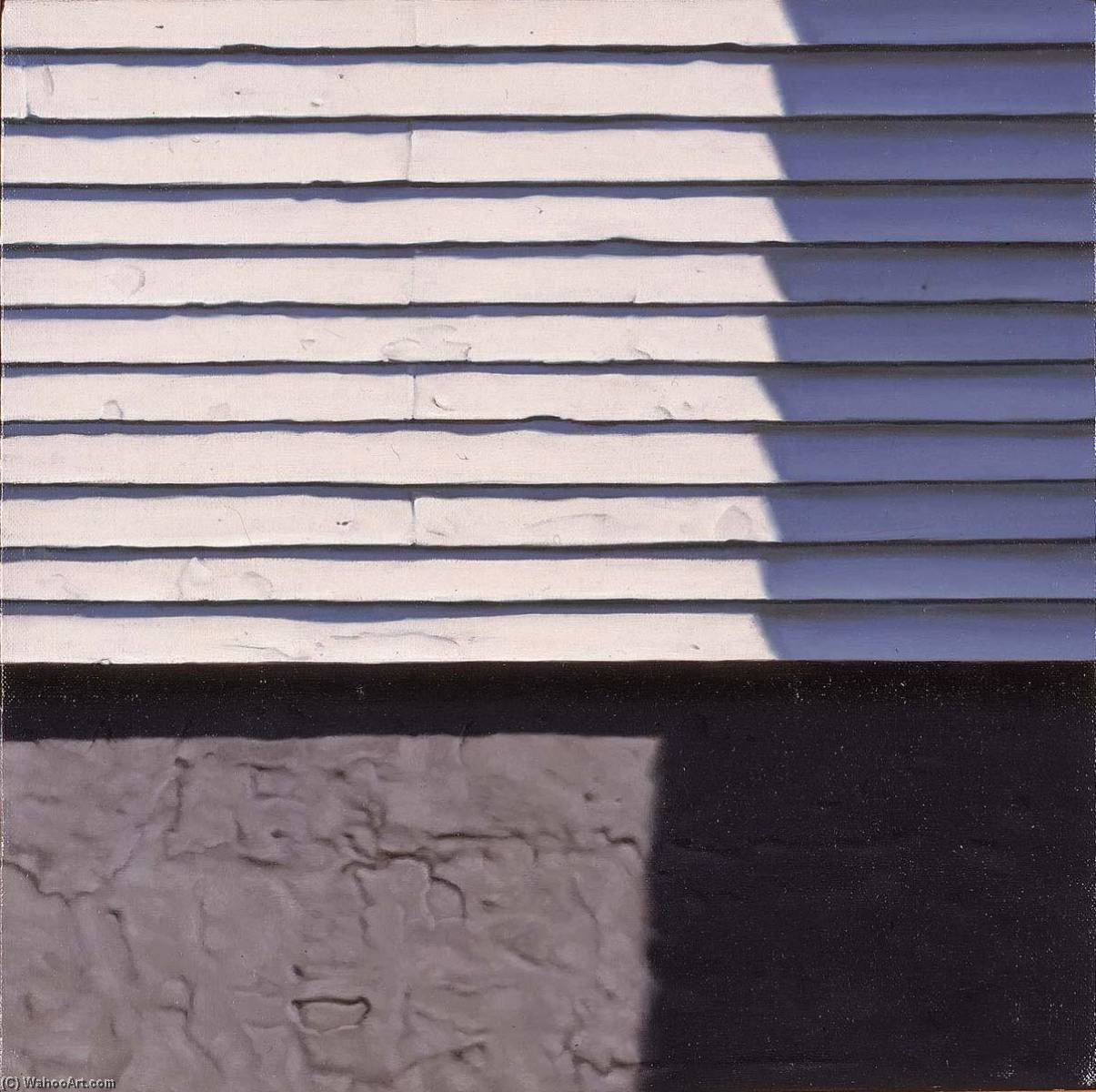 Atheneum Clapboard, Oil On Canvas by George Murphy