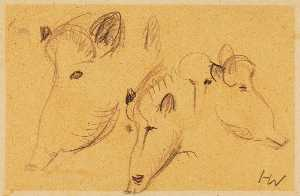 Heinz Warneke - Boars (Three Heads)