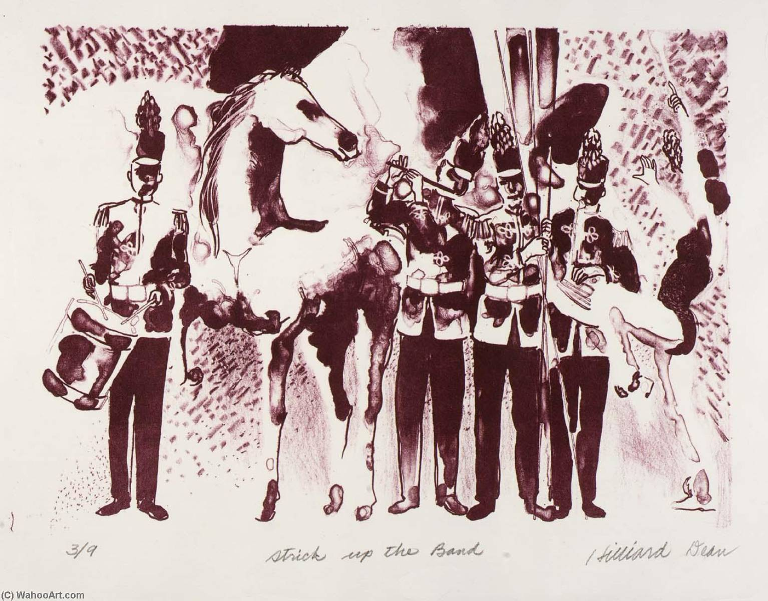 Order Oil Painting : Strick up the Band, 1968 by Hilliard Dean | WahooArt.com