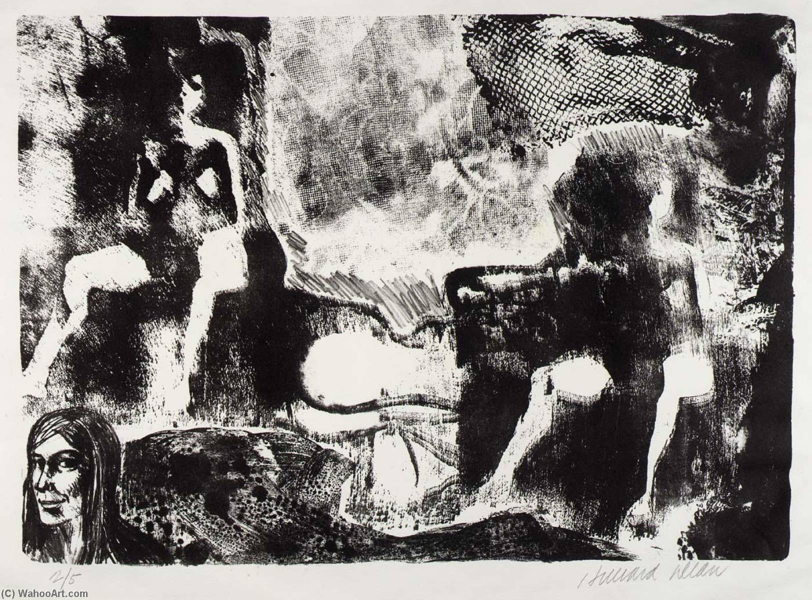 Untitled ( B), Lithography by Hilliard Dean