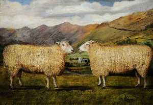William Taylor Longmire - Two Sheep in Profile
