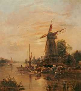 Thomas Lound - Evening Composition (Mill at Sunset)