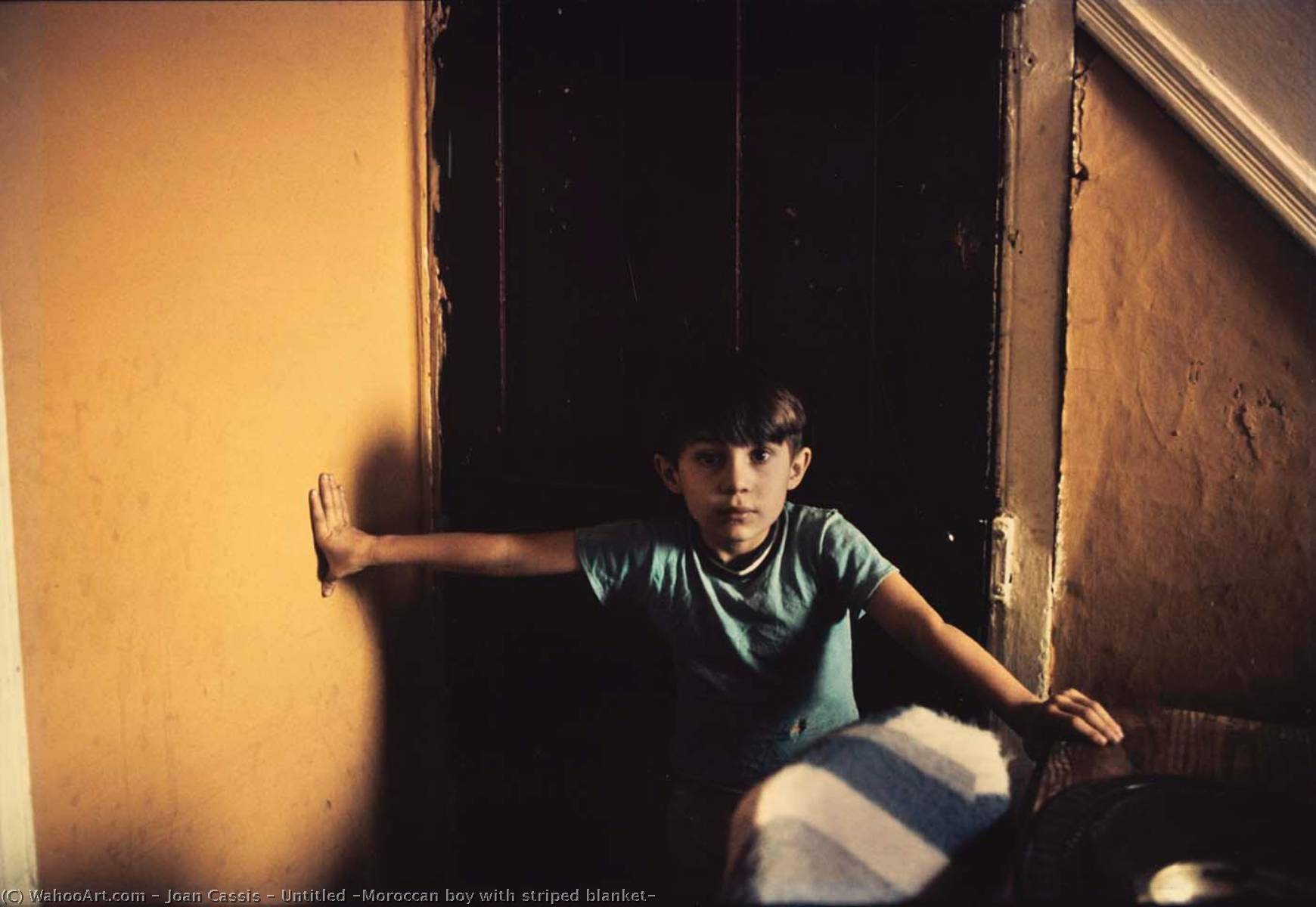 Order Museum Quality Copies | Untitled (Moroccan boy with striped blanket) by Joan Cassis | WahooArt.com