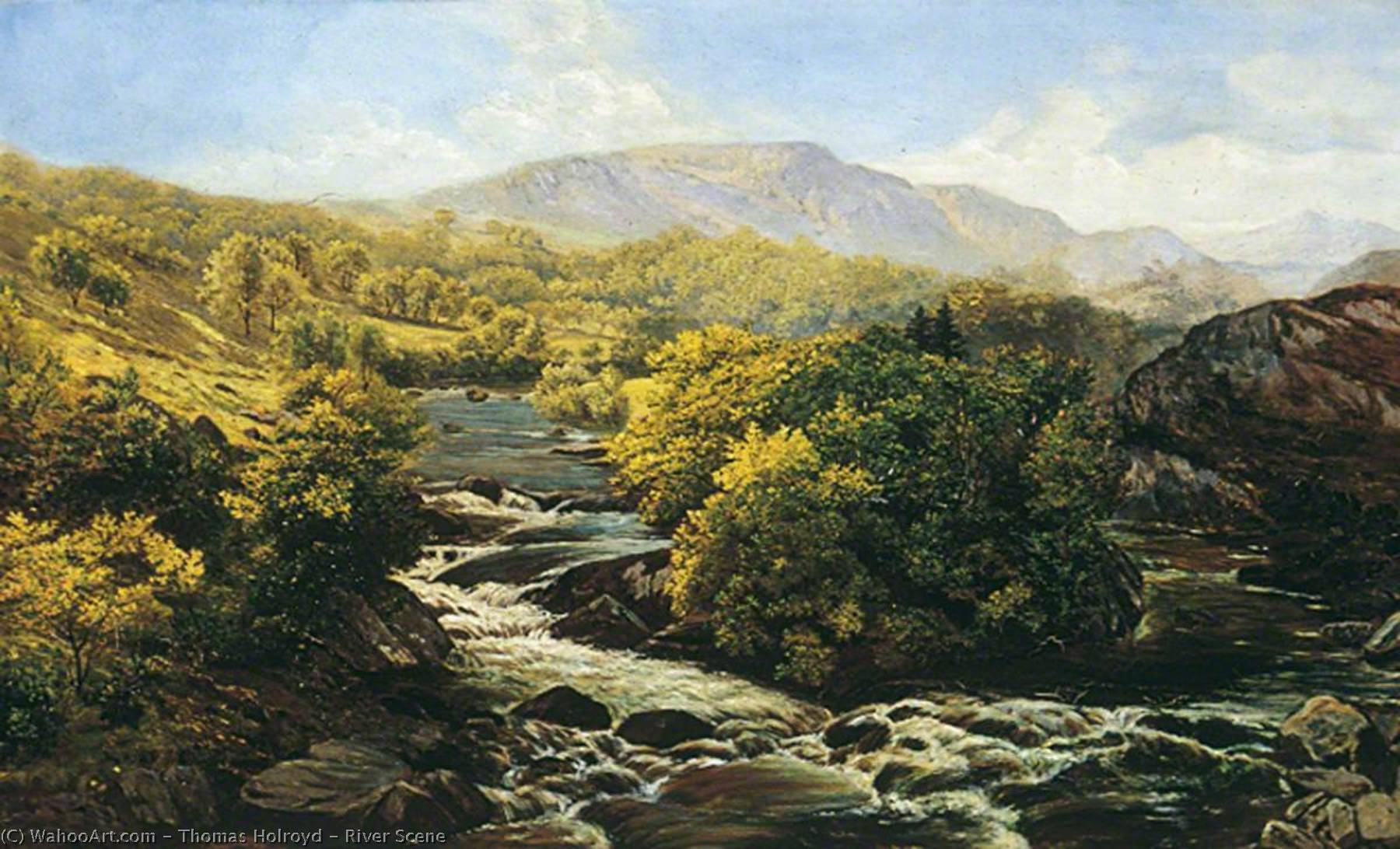 River Scene by Thomas Holroyd | Art Reproduction | WahooArt.com