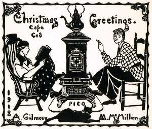 Mildred Mcmillen - Christmas Greetings 1918