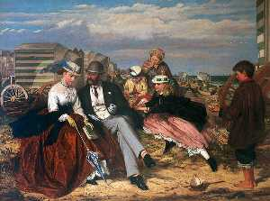 Charles Wynne Nicholls - Courtship on the Beach