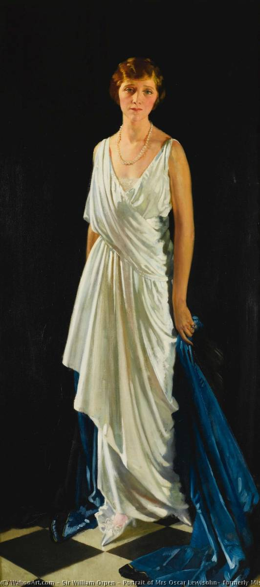 Portrait of Mrs Oscar Lewisohn, formerly Miss Edna May, Oil On Canvas by William Newenham Montague Orpen (1878-1931, Ireland)