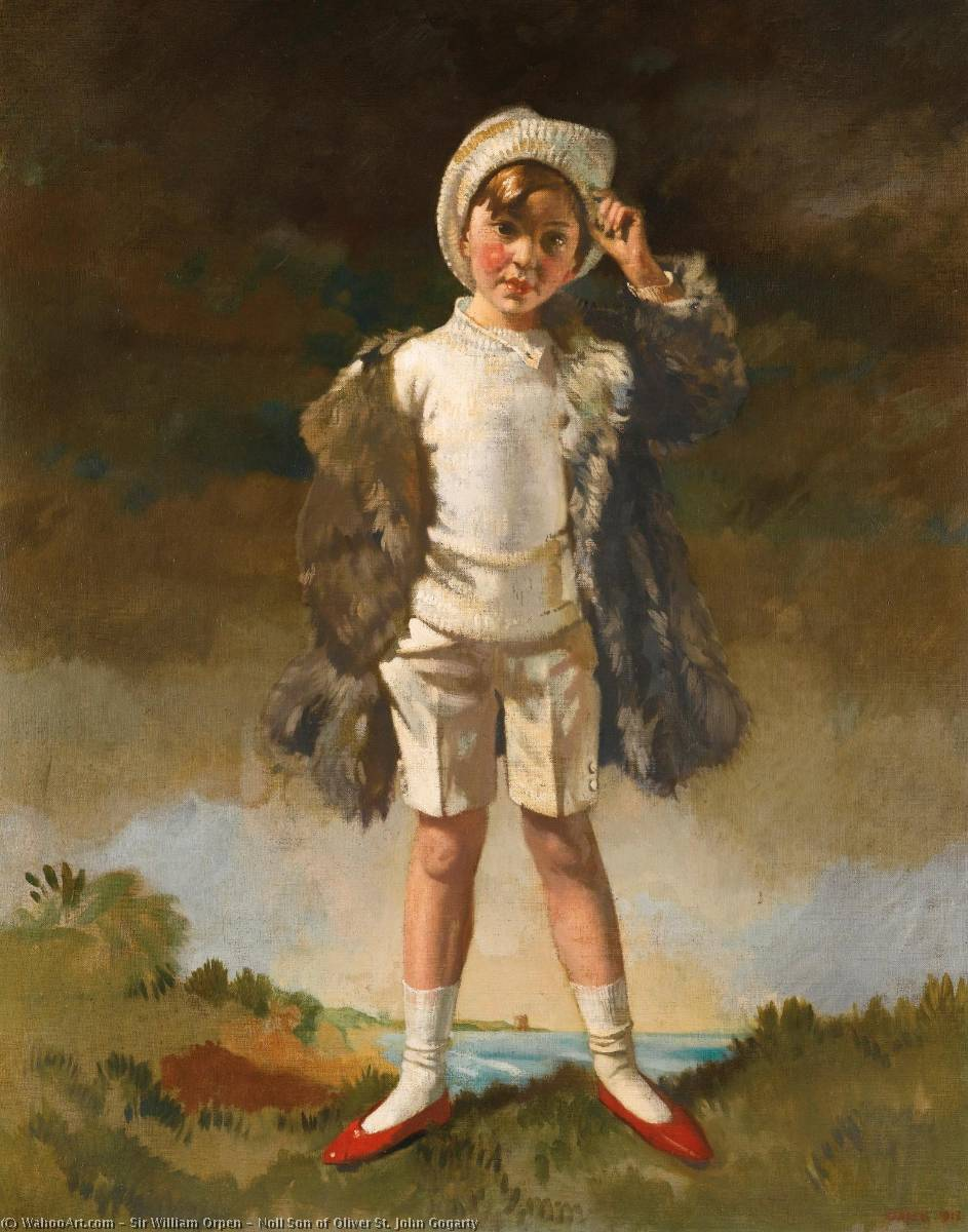 Noll Son of Oliver St. John Gogarty, Oil On Canvas by William Newenham Montague Orpen (1878-1931, Ireland)
