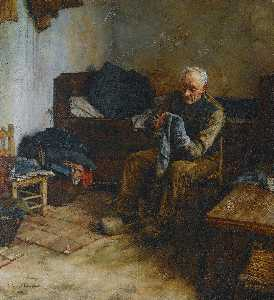 Walter Langley - A Flemish Peasant