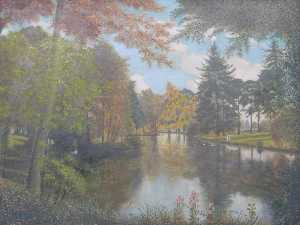 Alfred Balding - The Lower Lake, Dynes Hall, Essex