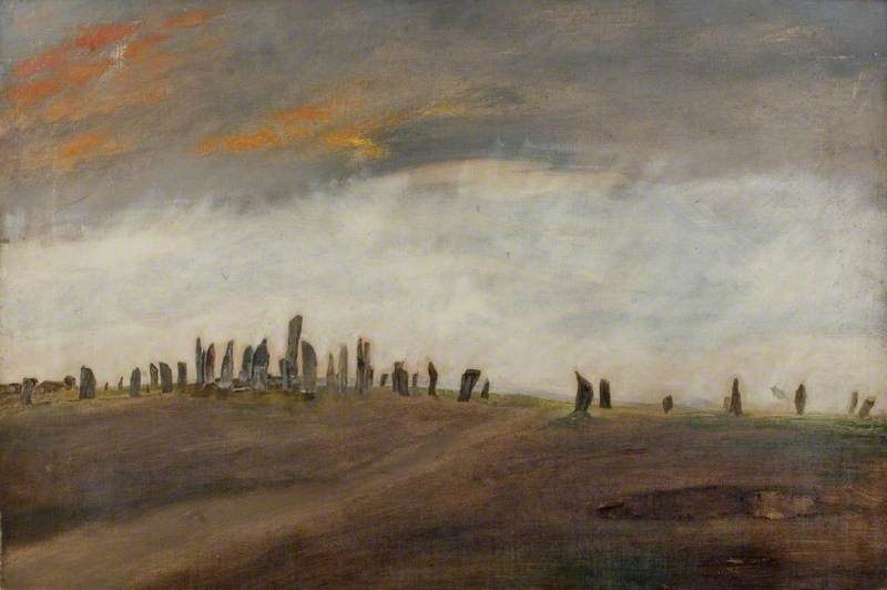 Order Paintings Reproductions | A Large Number of Standing Stones by Alfred Balding | WahooArt.com