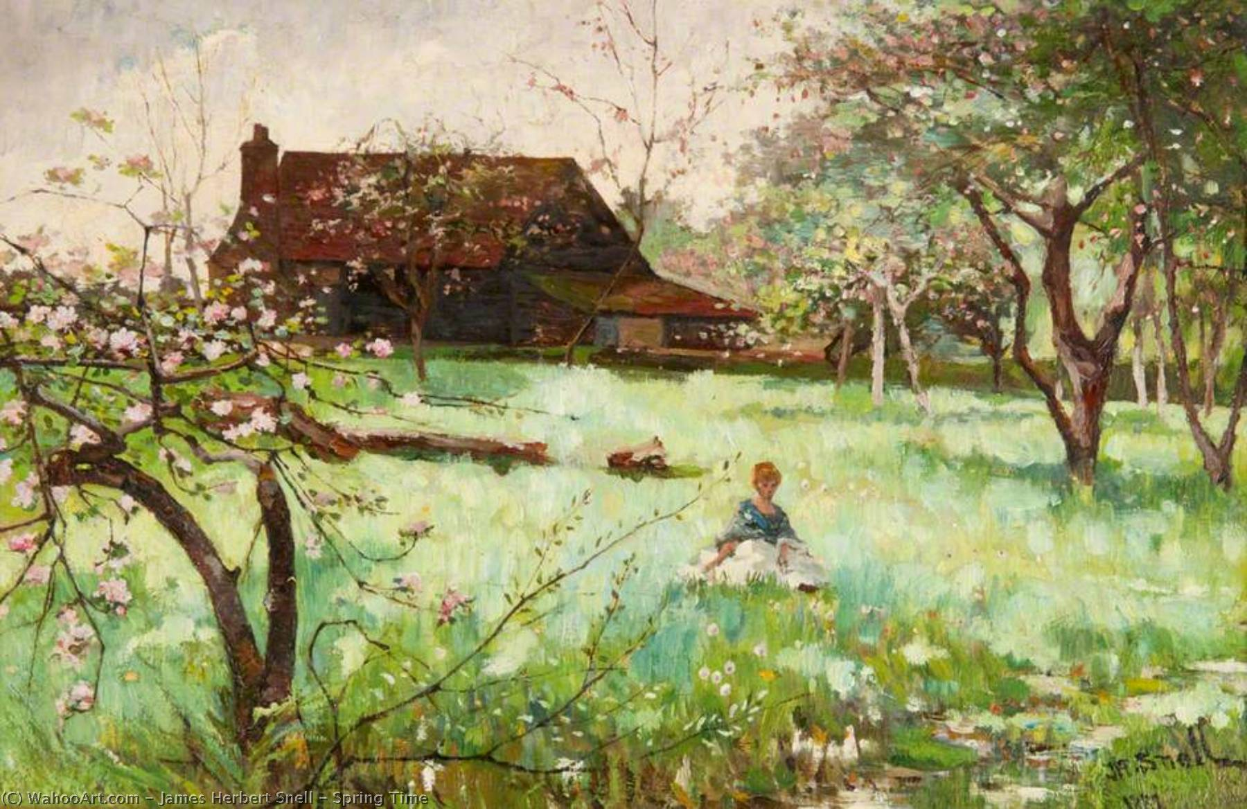 Spring Time, Oil On Canvas by James Herbert Snell