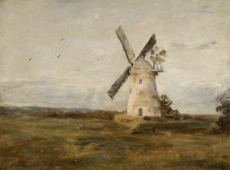 Kingsthorpe Mill, Northamptonshire, Oil On Canvas by James Herbert Snell
