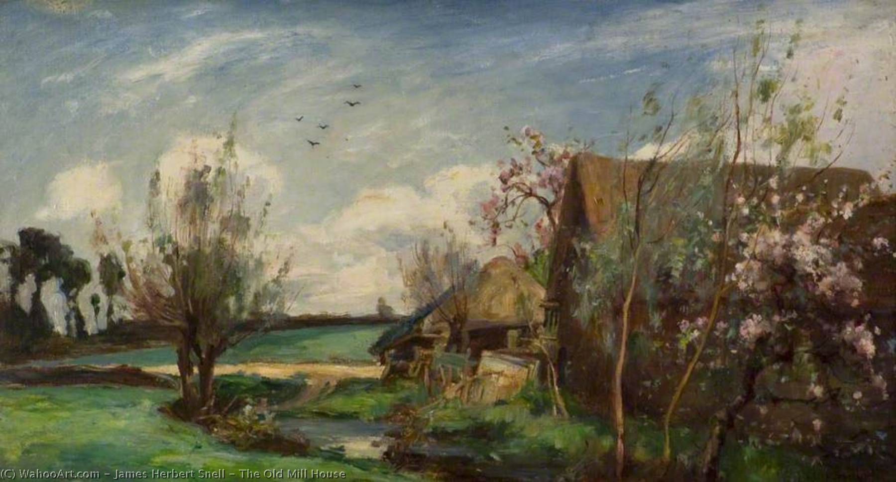 The Old Mill House, Oil On Canvas by James Herbert Snell