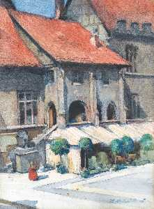 Francis Campbell Boileau Cadell - the rathaus, göttingen