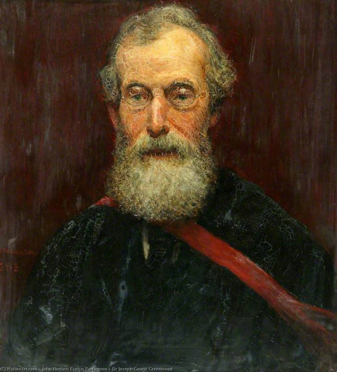 Dr Joseph Gouge Greenwood, 1883 by John Herbert Evelyn Partington | Museum Quality Reproductions | WahooArt.com