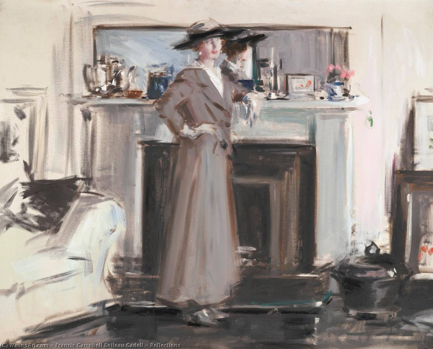 Reflections, Canvas by Francis Campbell Boileau Cadell (1883-1937)