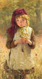 George Elgar Hicks - buttercups