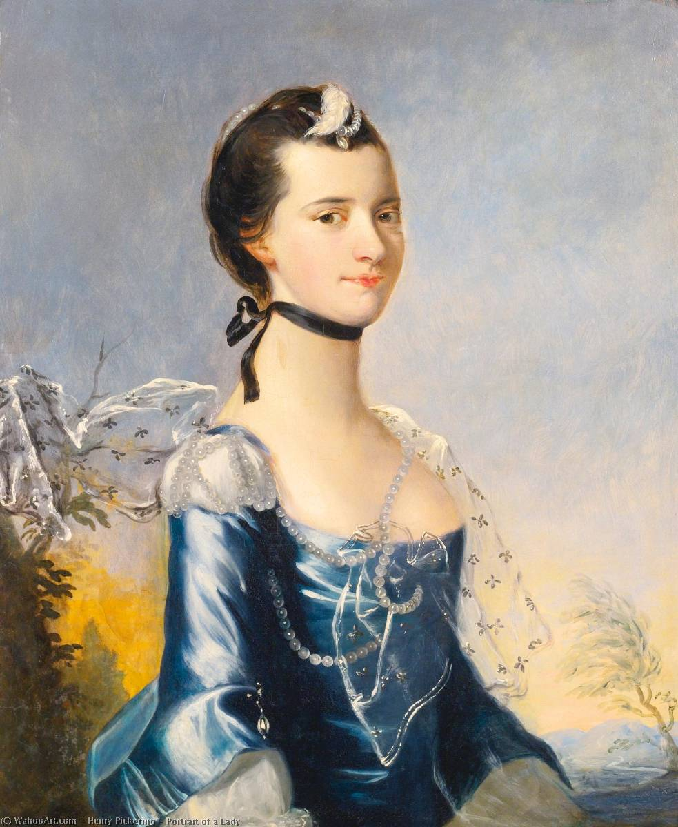 Portrait of a Lady, Oil On Canvas by Henry Pickering