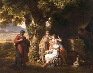 Charles Lock Eastlake - Moses and the Daughters of Jethro