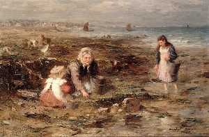 William Marshall Brown - The Mussel Gatherers
